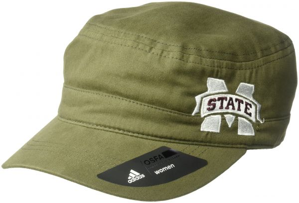 adidas NCAA Mississippi State Bulldogs Adult Women Army Green Military Hat a1aad41272