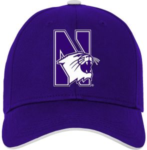 Team Color Youth One Size NCAA Northwestern Wildcats Youth Outerstuff Retro Bar Script Flat Brim Snapback Hat