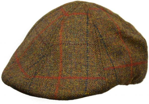 03596e2d671 Crown Cap Scottish Tweed 6 Panel Duckbill Ivy Cap