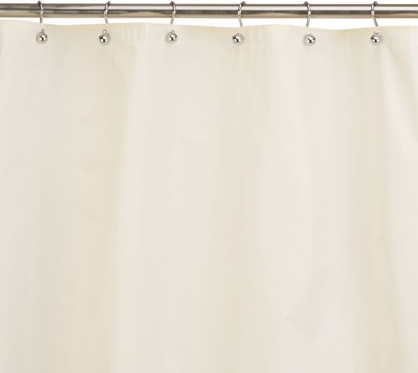 Carnation Home Fashions 10 Gauge PEVA 54 By 78 Inch Shower Curtain Liner Stall Size Ivory
