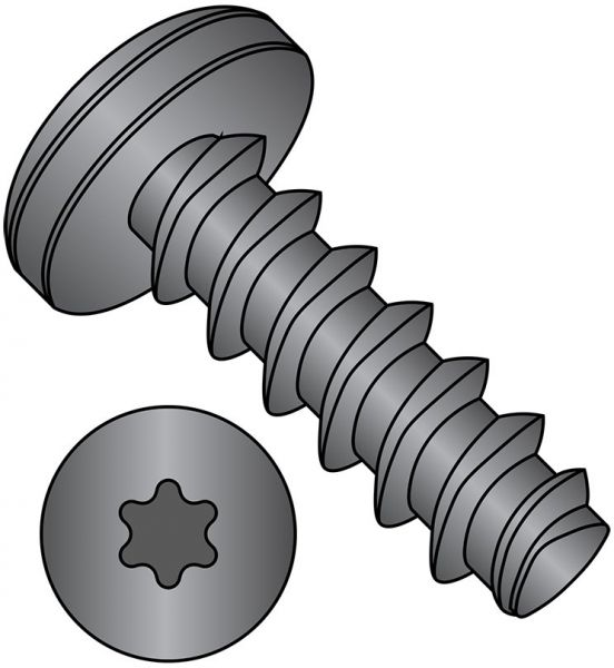 Steel Thread Rolling Screw for Plastic Pack of 100 Zinc Plated 1//4 Length Phillips Drive #5-20 Thread Size Pan Head