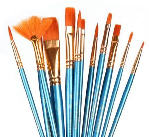 12 Pcs Painting Brushes Professional Paint Brush Pen Round Pointed Tip Nylon Hair Artist Acrylic Brush For Acrylic Watercolor Oil Painting