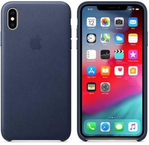 Case For apple iPhone XS Max Leather case - Midnight Blue