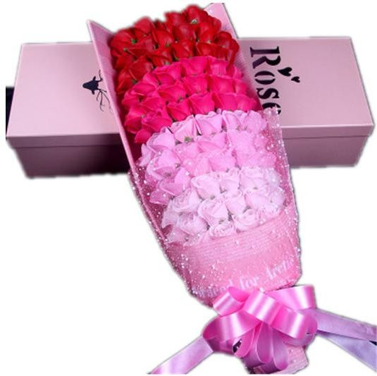 Valentines Day Christmas Gifts 99 Soap Flower Box Bouquet