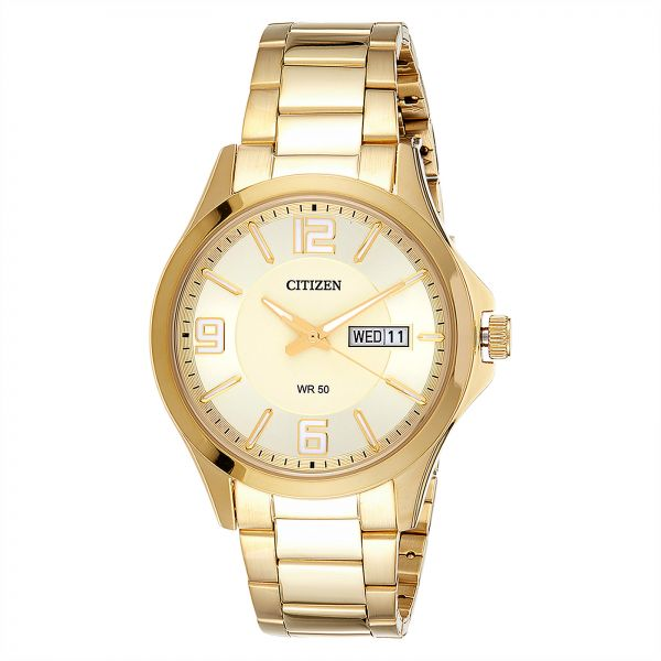 3ac42dc4152 Citizen Men Gold Dial Stainless Steel Band Watch - BF2003-50P