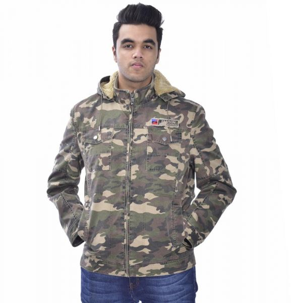 dec14417eeddd MENS CAMOUFLAGE JACKET WITH HOOD | Souq - Egypt