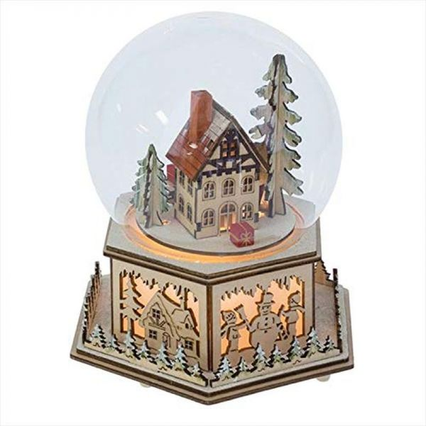 Midwest CBK Lighted LED Dome Music Box Brown 8 X 8 Plywood Glass