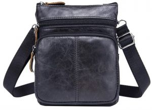 Genuine Cowhide Crossbody Bag for Men Leather Business Casual Shoulder Bags  Cellphone Messenger Bag 41c62e47aa70d