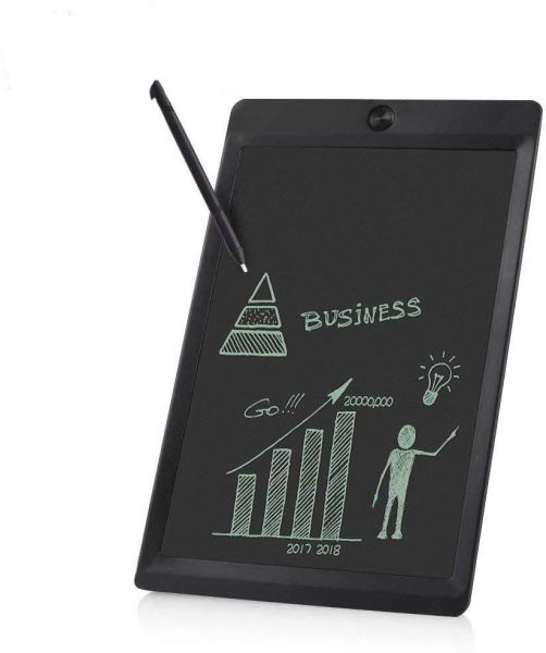 12 inch LCD Writing Tablet,Screen Lock Electronic Writing Board,Portable Drawing Board,Notepad with stylus for Kids,Adults,and Any age,at Home,School and Work Office. White
