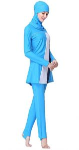 bcadd940425 2Pcs Women s Modest Conservative Full Cover Muslim Islamic Swimsuit Swimwear  Set SPF 50+ for Women
