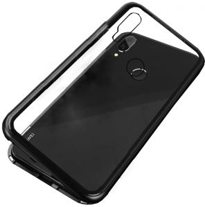 Huawei Nova 3i Case 360 degree full cover 2 pieces metal frame Magnetic tempered glass back case - Black