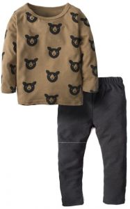 144ddeb59 BIG ELEPHANT Unisex Baby 2 Pieces Long Sleeve Clothing Set Top and Pant Set  J06 Small