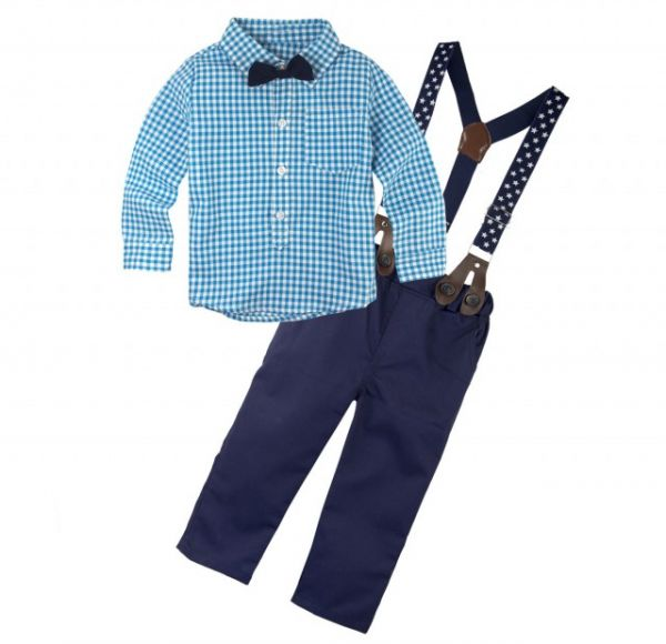 2e553e46f ... Boy's Long Sleeve Shirt Pants Clothing Set with Suspenders E8 Medium.  by Other, Baby Clothes & Shoes - Be the first to rate this product. 10 % off