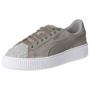 459737ef48 Puma Suede Platform Pebble Wn s Rock Ridge-Pu Size 39