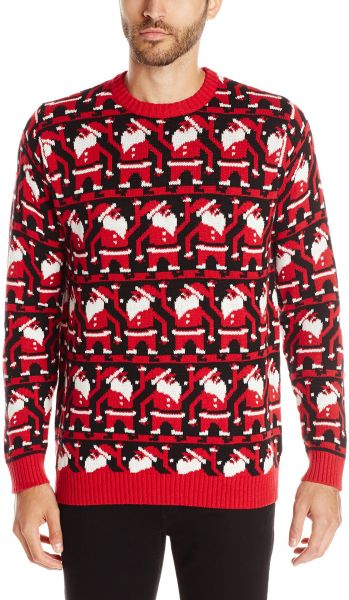 finest selection fade3 b2faf Blizzard Bay Mens Conga Line Santa Ugly Christmas Sweater, BlackRed, Large