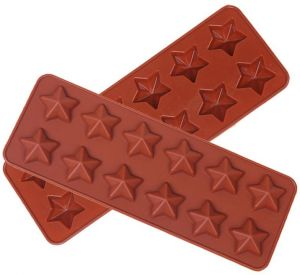 Cake Tools Kitchen Bakeware Handmade DIY 12-Hole Five-Pointed Star Silicone Chocolate Mold Cake Decoration
