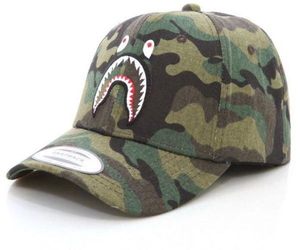 fcdeecbcff6 Bape shark Baseball   Snapback Hat For Unisex