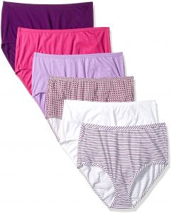 014e826e Fruit of the Loom Women's 6 Pack Comfort Covered Cotton Brief Panties,  Assorted, 7