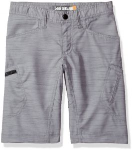 6bd4ccdf3b LEE Big Boys' Dungarees Grafton Cargo Short, Gray Summit Slub, 16 Regular