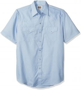 1833d702932 Ely   Walker Men s Short Sleeve Solid Western Shirt