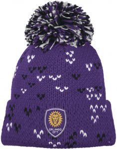 b20d2f62dec adidas MLS Orlando City SC Women s Fan Wear Cuffed Pom Knit Beanie