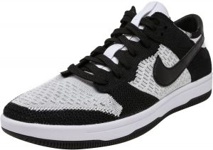 ae3a48dd0392 Nike Men s Dunk Flyknit White   Black-Wolf Grey Ankle-High Basketball Shoe  - 9.5M