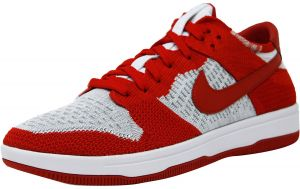 4991d84d0e2f Nike Men s Dunk Flyknit University Red   White-Wolf Grey Ankle-High  Basketball Shoe - 9.5M