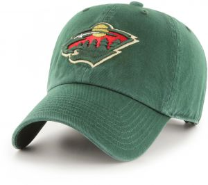 new arrival 88f75 554f4 OTS NHL Minnesota Wild Challenger Clean Up Adjustable Hat, Dark Green, One  Size