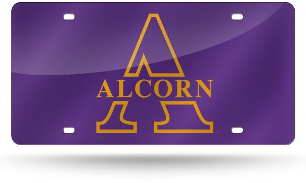 Rico NCAA Alcorn State Braves Laser Inlaid Metal License Plate Tag ... ca18666fb586