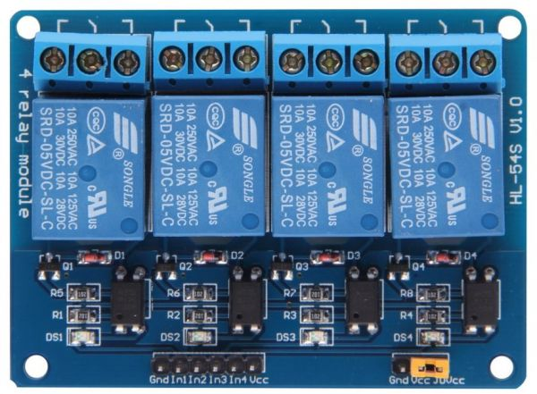 4 Channel 12V Relay Module 4Channel Relay Expansion Board 12V low level  Triggered 4-way Relay Module for Arduino