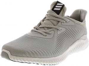 Adidas Men s Alphabounce 1 Crystal White   Clear Grey Light Onix Ankle-High  Mesh Running Shoe - 9M 5098d3c46