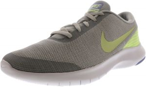 0ccada45728f2 Nike Women s Flex Experience Rn 7 Pure Platinum   Barely Volt Ankle-High  Fabric Running Shoe - 8M