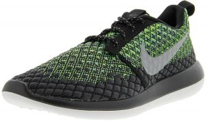 2cd6fa8ce11d Nike Men s Roshe Two Flyknit 365 Volt   Wolf Grey - Green Glow Ankle-High  Fabric Running Shoe 10.5M