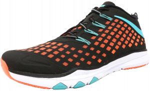 buy online 3f18d e47ae Nike Men s Train Quick Black   Hyper Jade-Bright Mango Ankle-High Cross  Trainer Shoe - 10M