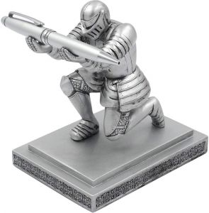 4733f152d7cd4 Resin Soldier Executive Knight Pen Holder - Personalized Desk Accessory Pen  Stand for A Gift - Decorative Pencil Holders Desk Organizer