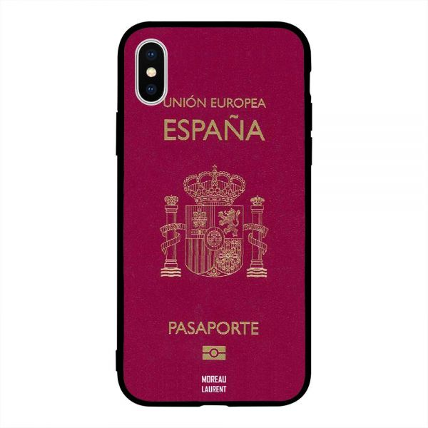 Apple iPhone X Case Cover Spain Passport