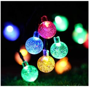 Recesky 30 Led 17 5ft Fairy Globe Battery Operated String Lights With Timer Crystal Ball Decor Lighting For Outdoor Indoor Garden Patio Home Xmas