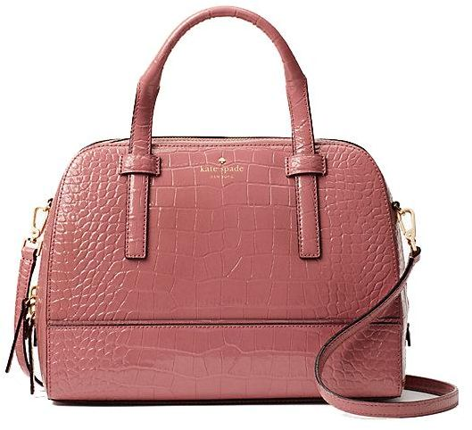 01217511c4 Kate Spade New York Riverside Street Exotic Small Felix Dusty Peony
