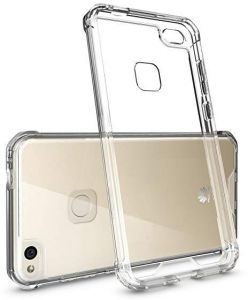 Shockproof Soft Silicone TPU Clear Case Cover For Huawei P8 lite 2017,P9 2017,GR3 2017,with 2 pack 2.5D tempered glass screen protector