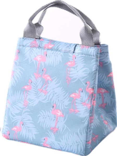 flamingo Portable Insulated Canvas lunch Bag Thermal Food Picnic Lunch Bags for Women kids Men Cooler Lunch Box Bag Tote