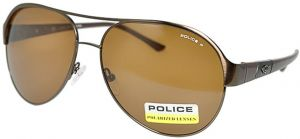 292e88674d Police Aviator Sunglasses POLICE S8563C K05P metallic Brown polarized Mens  Size 60mm-14mm-135mm
