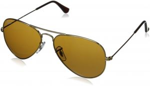 e21dcceb9e9 Ray-Ban AVIATOR LARGE METAL - GOLD Frame CRYSTAL BROWN Lenses 55mm Non- Polarized