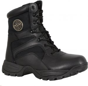 Milwaukee Leather Womens Harness Square Toe Boots Distrsd Gry 11 Black//Gray, Size 7