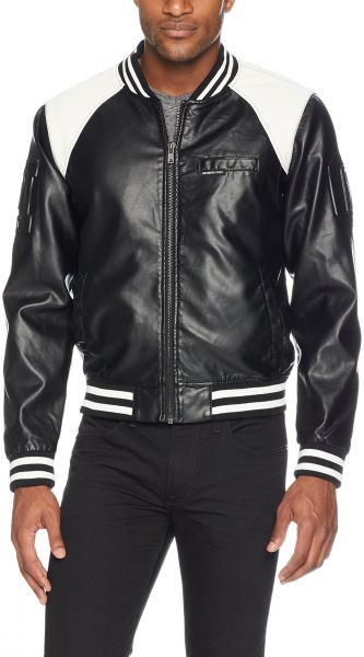 Members Only Men S Vegan Leather Bomber Black Xxl Souq Uae