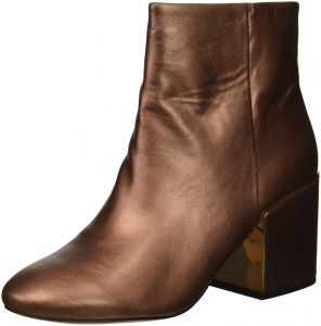 941e4a7ae0 Kenneth Cole New York Women's Reeve 2 Block Heel Bootie Ankle Boot, Copper,  9 M US
