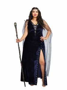 30ee2859453 Dreamgirl Women s Plus-Size The Sorceress Dramatic Velvet Costume Gown