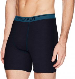 f8f82c57df4 Icebreaker Merino Men's Anatomic Long Boxers Base Layer Underwear, Large,  Midnight Navy/Prussian Blue