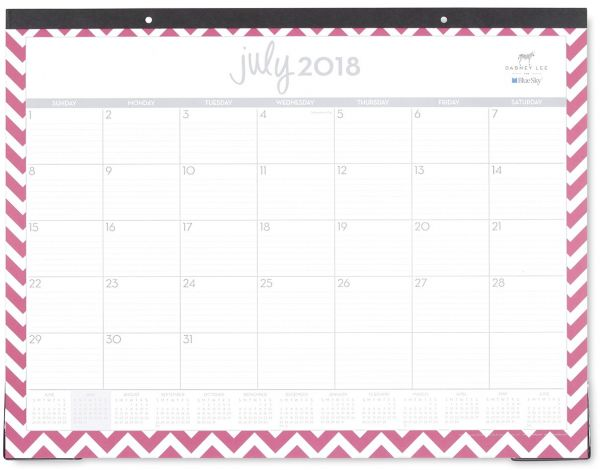 Dabney Lee For Blue Sky 2018 2019 Academic Year Monthly Desk Pad