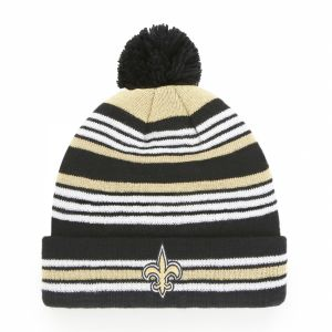 the latest 1d6b4 d2d89 OTS NFL New Orleans Saints Rickshaw Cuff Knit Cap with Pom, Black, Kids