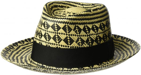 Bailey of Hollywood Men s Hartley Contrast Patterned Weave Fedora ... 50610bb829c